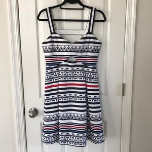 Guess Los Angeles 10 Tribal Patterned Midi Dress
